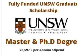 UNSW Graduate Scholarship