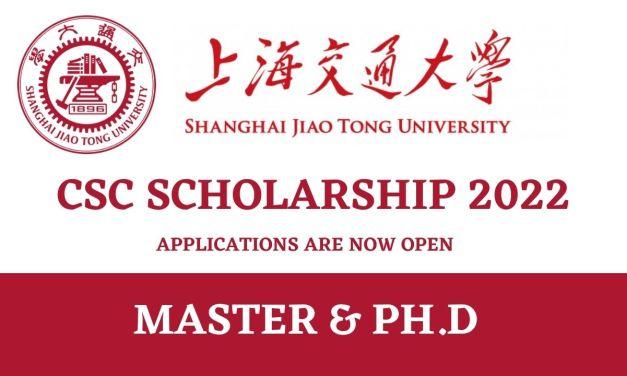 Shanghai Jiaotong University SJTU CSC Scholarships 2022 – Study in China
