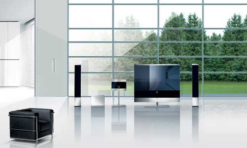 Loewe's Reference 52 TV, Reference Sound Standspeaker electrostat speakers and the Reference Floor Panel Medium