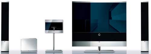 Loewe's Reference 52 TV, Reference Sound Standspeaker electrostat speakers and the Reference Floor Panel Medium