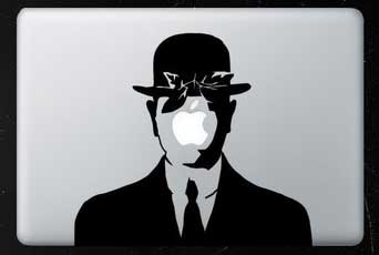 MacBook decal, MacBook Pro decal, personalise your Mac, Magritte decal