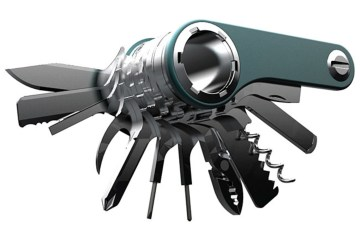 Switch-multi-tool knife, tools open
