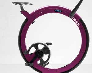 Ciclotte exercise bike, in purple