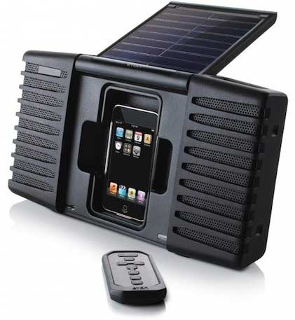 Eton Soulra solar-powered iPod dock