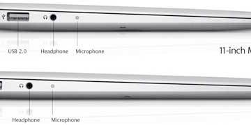 Apple MacBook Air - view of the left-hand side
