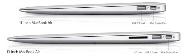 Apple MacBook Air - view of the right-hand side
