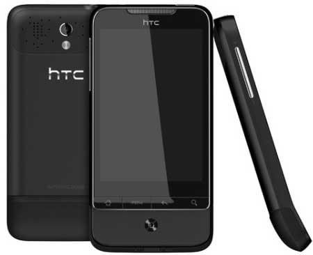 HTC Legend in black, HTC Legend Phantom Black