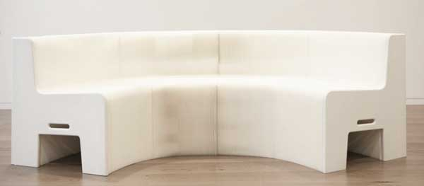 Flexible Love chair, white