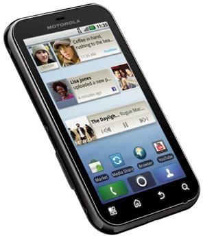 Motorola Defy Android smartphone - angle shot