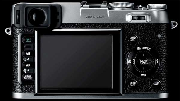 Fujifilm FinePix X100 back