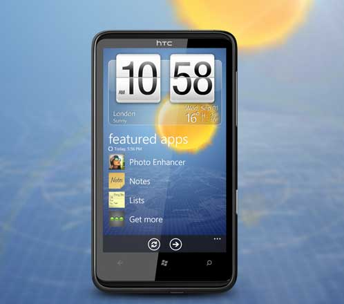HTC HD7 Windows 7 phone