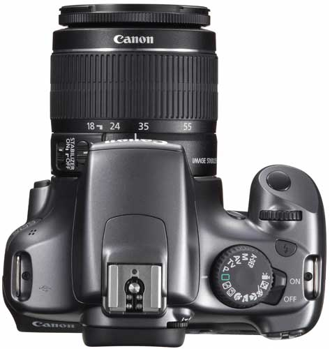Canon EOS 1100D digital SLR camera, side