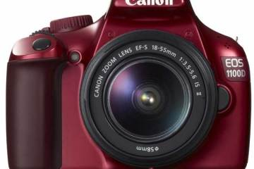 Canon EOS 1100D digital SLR camera, front
