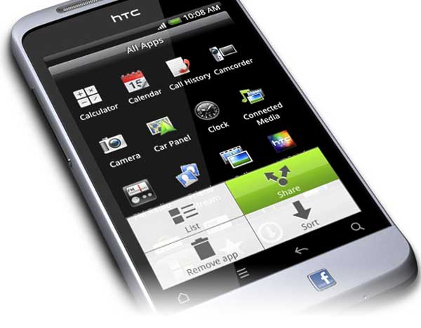 HTC Salsa, front angle view