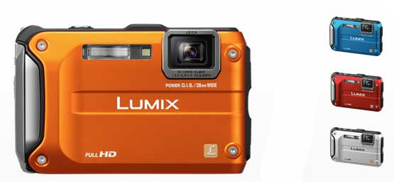 Panasonic Lumix DMC-FT3 camera, the colour range