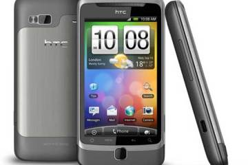 HTC Desire Z, Android Froyo - front, back and side views