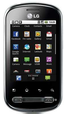 LG Optimus Me, Android smartphone