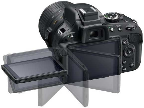 Nikon's D5100 LCD monitor allows up to 170-degree viewing angle