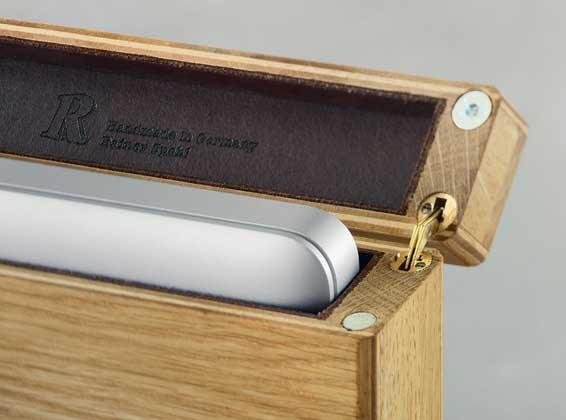 Rainer Spehl Wooden MacBook Pro cases - close up view