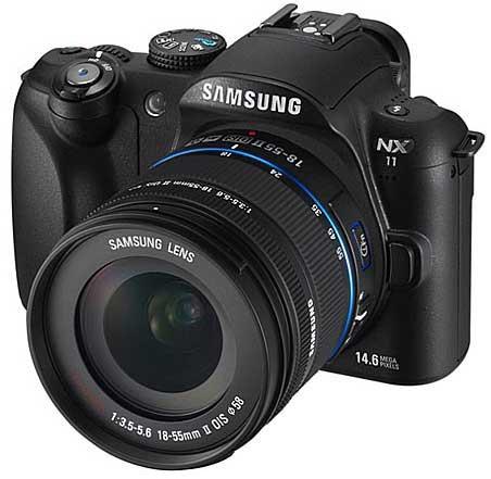 Samsung NX11 digital camera, front angle view