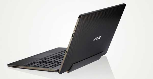 Asus Eee Pad Transformer, back angle view