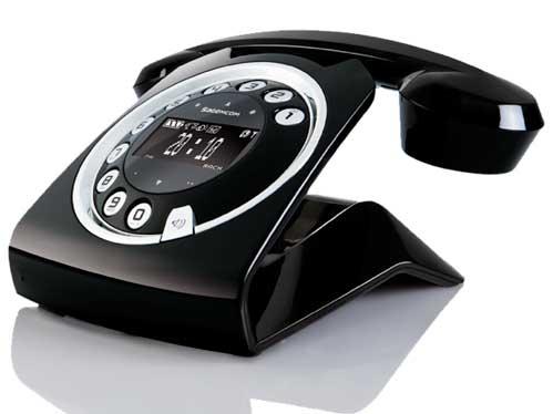 Sagemcom Sixty cordless phone, black