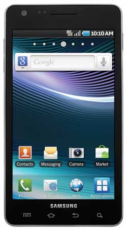 Samsung Infuse 4G smartphone (Samsung i997) - front view