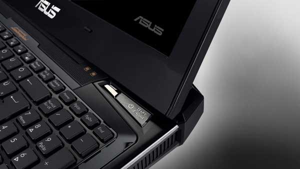 Asus Lamborghini VX7 notebook computer start button