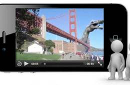 Aurasma augmented reality app - Golden Gate Bridge and dinosaur attack
