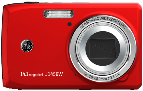 GE J1456W digital camera, red colour