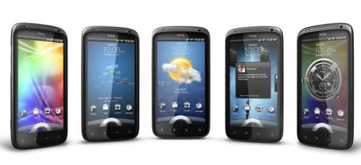 HTC Sensation and a selection of screens