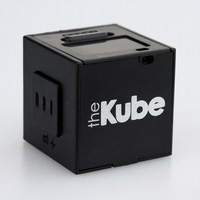 The Kube MP3 player, in black