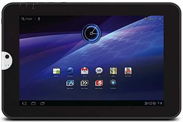 Toshiba Tablet, front view