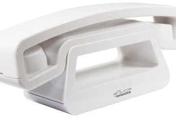 Swissvoice ePure cordless phone - white, angle view