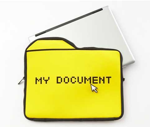 25togo My Document computer sleeve