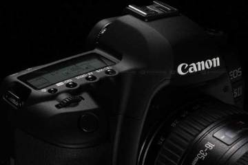 Canon 5D Mk II digital SLR camera - closeup