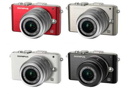 Olympus PEN E-PL3 digital camera - the full colour range