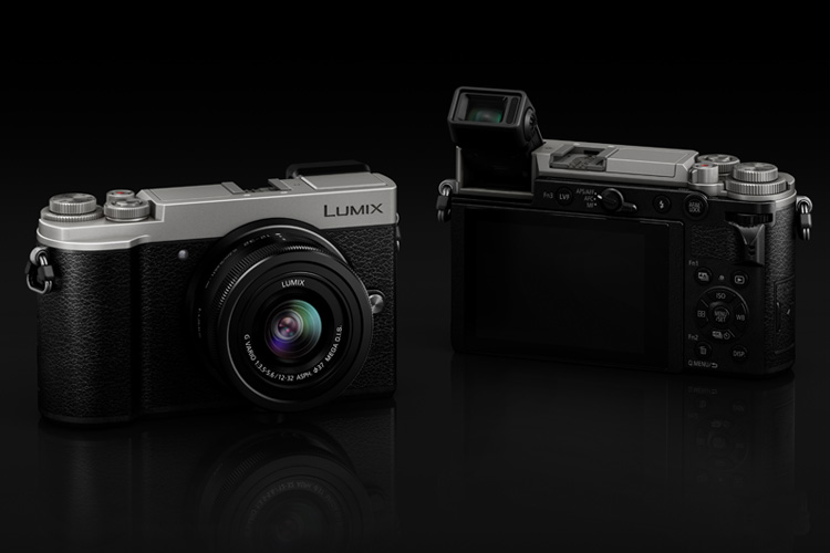 Panasonic Lumix GX9 silver black front and back