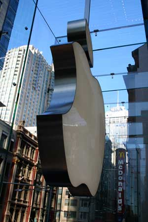Apple logo in the Apple Store Sydney