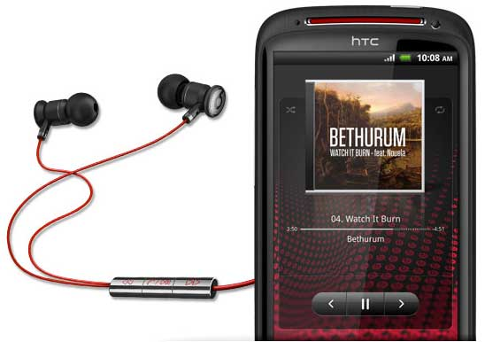 HTC Sensation XE with Beats by Dr Dre earphones