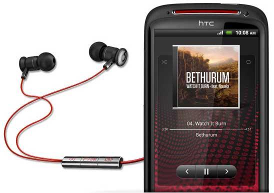 HTC Sensation XE with Beats by Dr Dre earphones