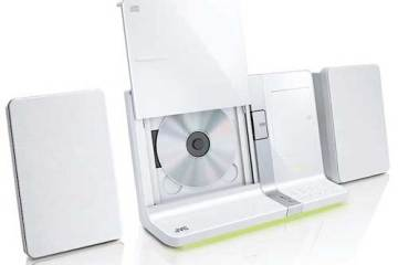 JVC UX-VJ5 iPad, iPhone and iPod dock. white, with CD player