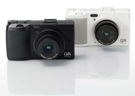 Ricoh GR Digital IV digital camera, black and white models