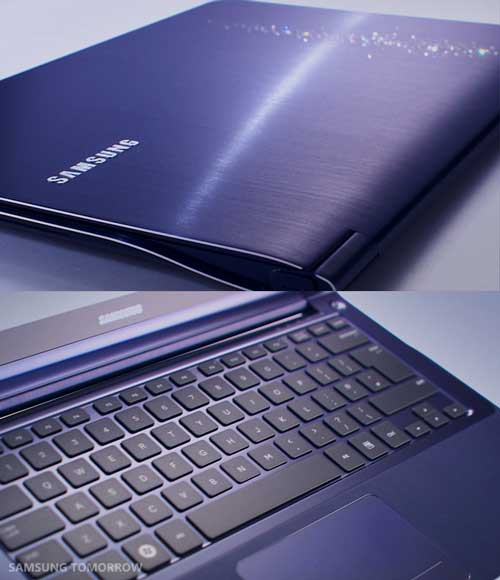 Samsung Series 9 laptop, in Moonlight Blue colour
