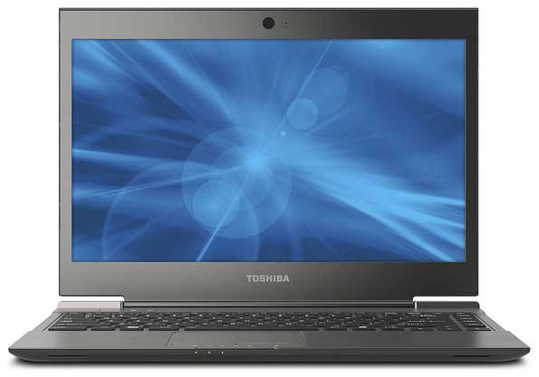 Toshiba Portégé Z830 Series ultrabook computer, front view