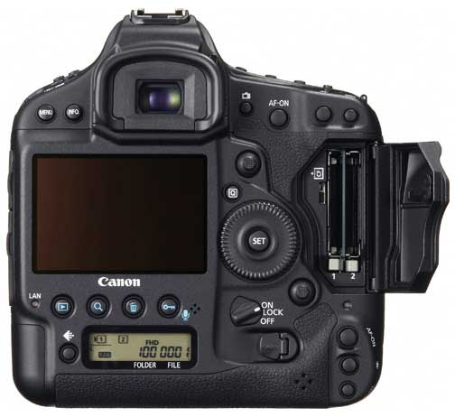 Canon EOS-1D X, rear view