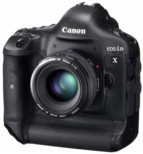 Canon EOS-1D X, front angle