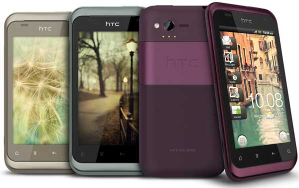 HTC Rhyme, views of the front and back