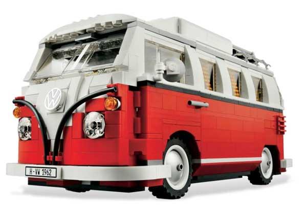 Lego Volkswagen T1 Camper Van, front angle view