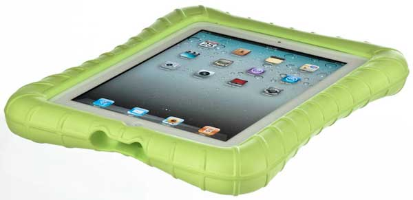 M-Edge SuperShell iPad case, front angle